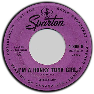 Honky Tonk Girl Rare 45 Sparton LABEL